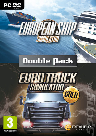 European Ship Simulator/Euro Truck Simulator Gold Double Pack - PC Cover & Box Art