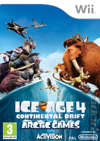 Ice Age 4 Continental Drift  -  Artic Games PAL WII - WBFS