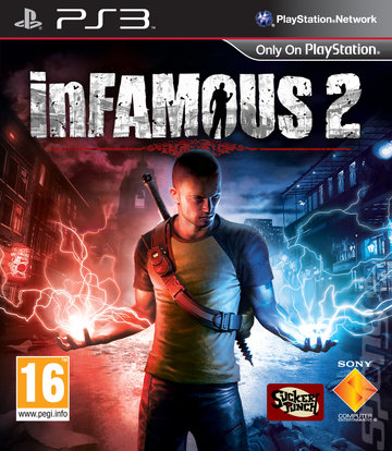 inFAMOUS 2 - PS3 Cover & Box Art