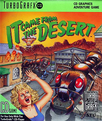 It Came from the Desert - NEC PC Engine Cover & Box Art