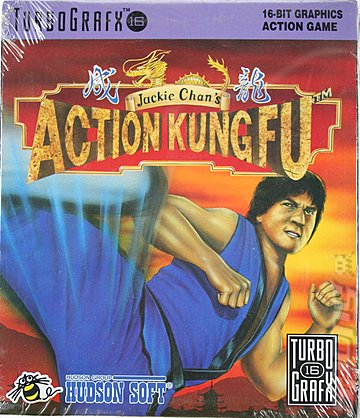 Jackie Chan's Action Kung Fu - NEC PC Engine Cover & Box Art