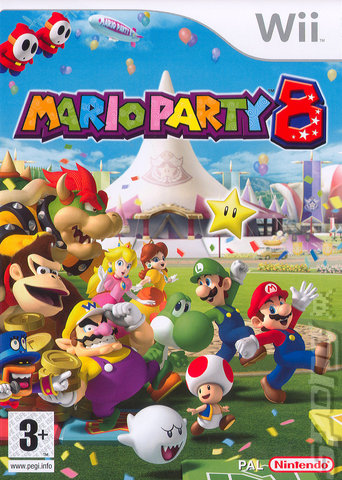 Mario Party 8 - Wii Cover & Box Art