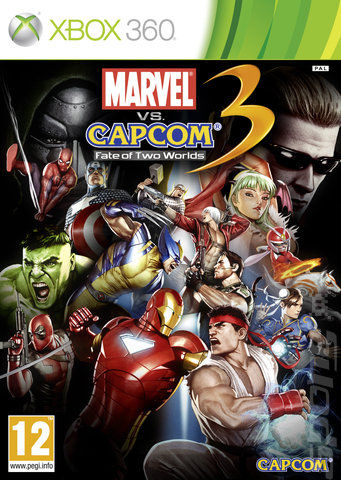 Marvel vs. Capcom 3: Fate of Two Worlds - Xbox 360 Cover & Box Art