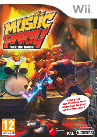Musiic Party: Rock The House - Wii Cover & Box Art