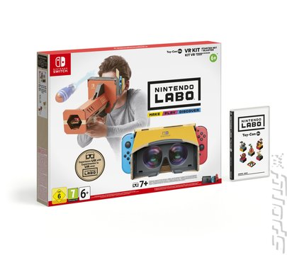 Nintendo Labo: VR Kit: Toy-Con 04 Starter Set + Blaster - Switch Cover & Box Art