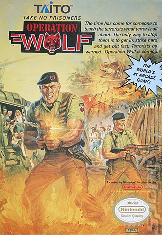 Operation Wolf - NES Cover & Box Art
