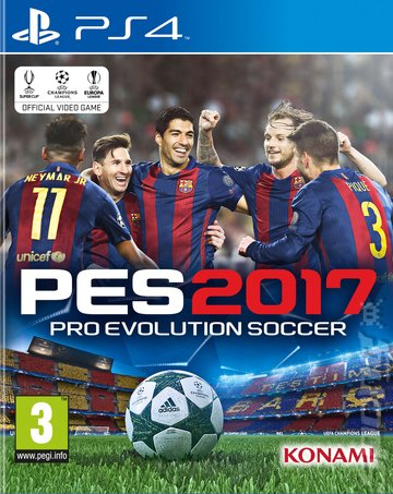 PES 2017 - PS4 Cover & Box Art