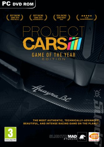 Project CARS - PC Cover & Box Art