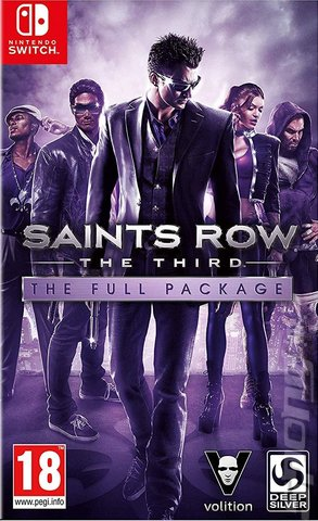 Saints Row: The Third: The Full Package - Switch Cover & Box Art