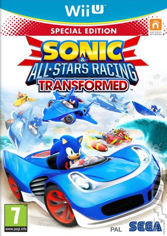 Sonic & All-Stars Racing Transformed - Wii U Cover & Box Art