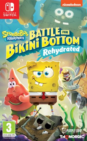 SpongeBob SquarePants: Battle for Bikini Bottom: Rehydrated - Switch Cover & Box Art