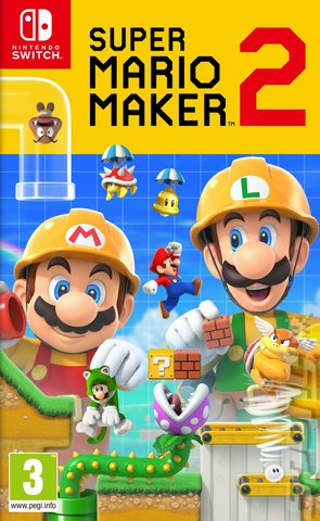 Super Mario Maker 2 - Switch Cover & Box Art