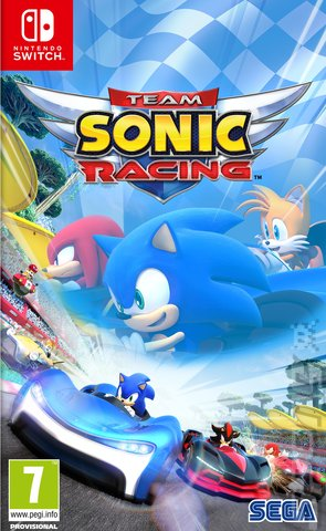 Team Sonic Racing - Switch Cover & Box Art