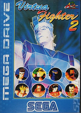 Virtua Fighter 2 - Sega Megadrive Cover & Box Art