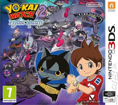 YO-KAI WATCH 2: Psychic Specters - 3DS/2DS Cover & Box Art