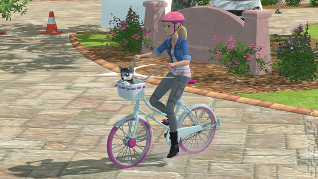 Barbie and Her Sisters: Puppy Rescue - Wii U Screen
