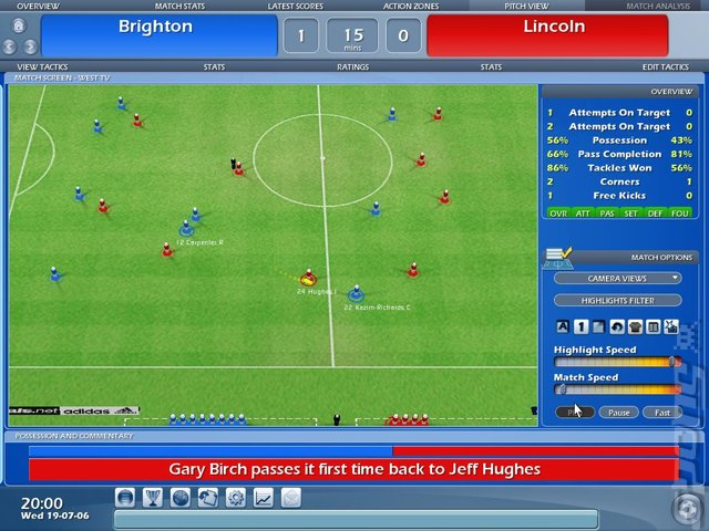 Championship Manager 2007 - PC Screen