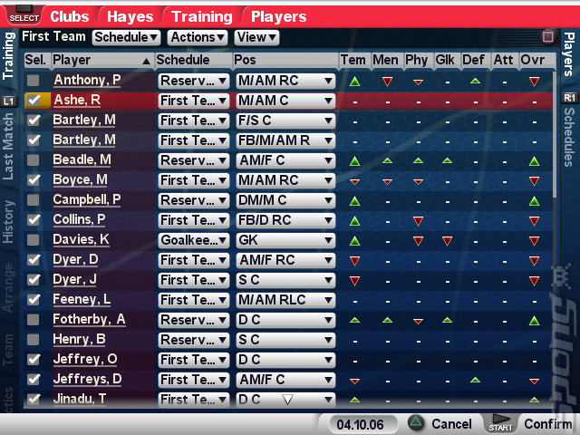 Championship Manager 2007 - PS2 Screen