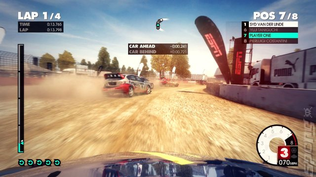 DiRT 3 - Xbox 360 Screen
