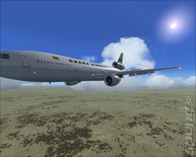 Fly To Africa - PC Screen