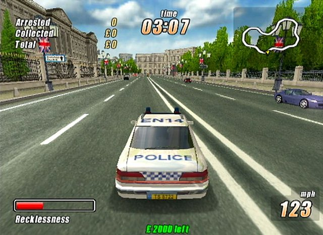 London Racer: Police Madness - PS2 Screen