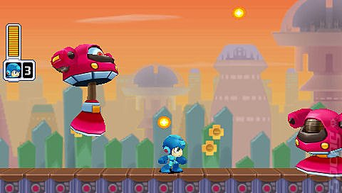 Mega Man: Powered Up - PSP Screen