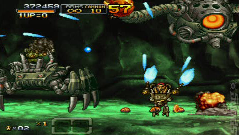 Metal Slug XX - PSP Screen