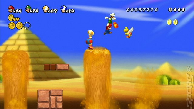 New Super Mario Bros. Wii - Wii Screen
