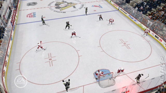NHL 09 - PS2 Screen