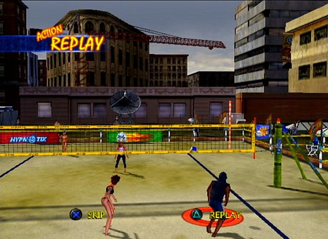 Outlaw Volleyball Remixed - PS2 Screen