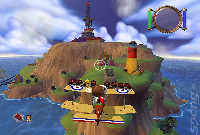 Snoopy vs. the Red Baron - PS2 Screen