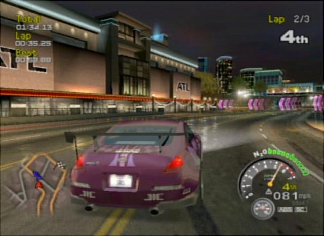 SRS: Street Racing Syndicate (GameCube) Screen